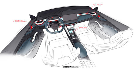 Škoda Vision RS teaser