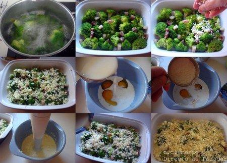 Paso a paso cazuela de brócoli con queso Cheddar