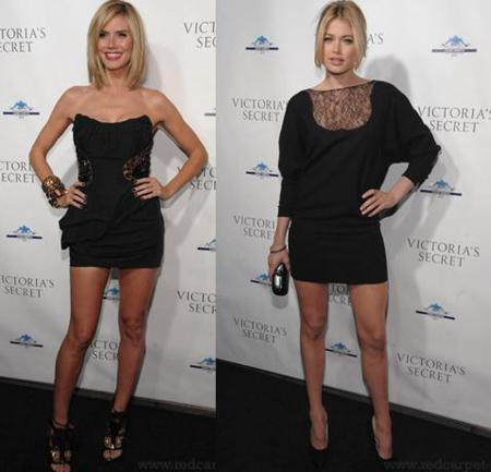 Cómo estar divina con un little black dress, por Heidi Klum y Doutzen Kroes