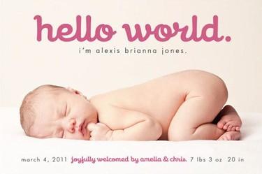Siete ideas originales para anunciar el nacimiento de tu bebé