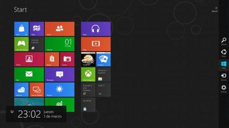 Panel de sistema de Windows 8