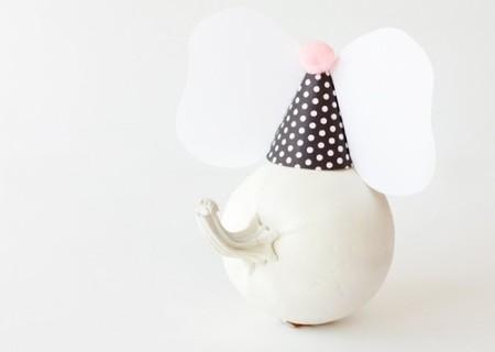 Una forma alegre y diferente de utilizar las calabazas para decorar