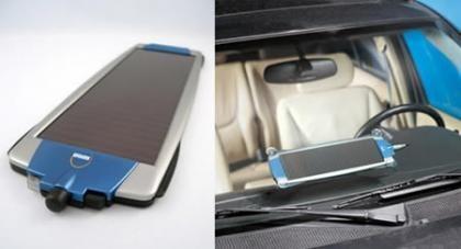 Cargador solar de baterías de coche
