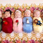Las mágicas fotografías de bebitas recién nacidas vestidas como las princesas de Disney