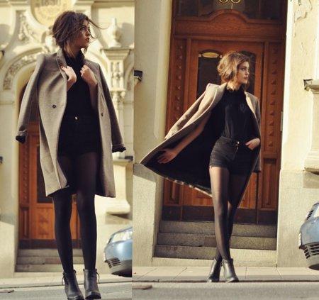 Abrigo recto Moda en la calle