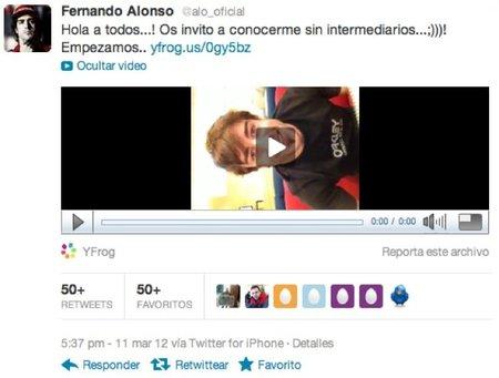 Fernando Alonso hace su aparición en Twitter