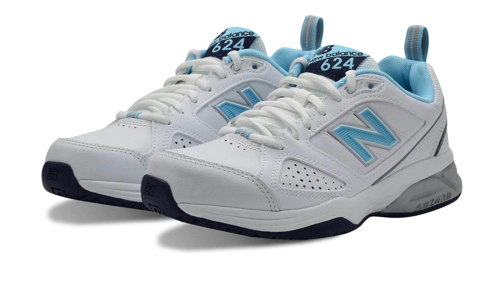 Sneakers 624v4 en blanco y azul
