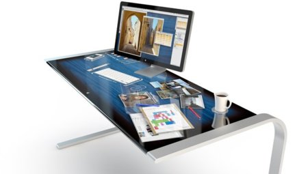Escritorio multitáctil diseño conceptual iDesk