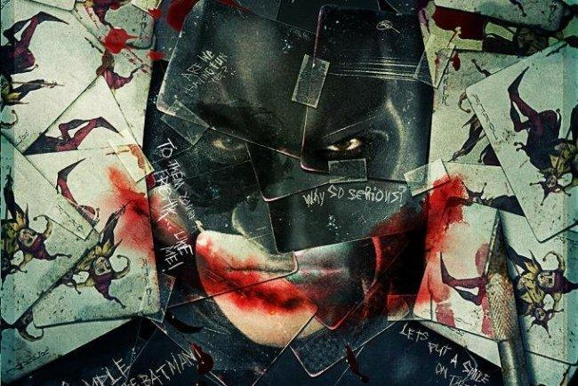 Imagen con el cartel de 'El Caballero Oscuro'