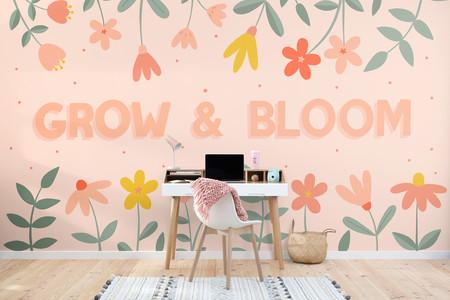 Papel Pintado Rosa Motivacional Con Frases Y Flores Lifestyle Web