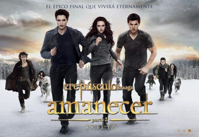 Un cartel de La Saga Crepúsculo: Amanecer. Parte 2