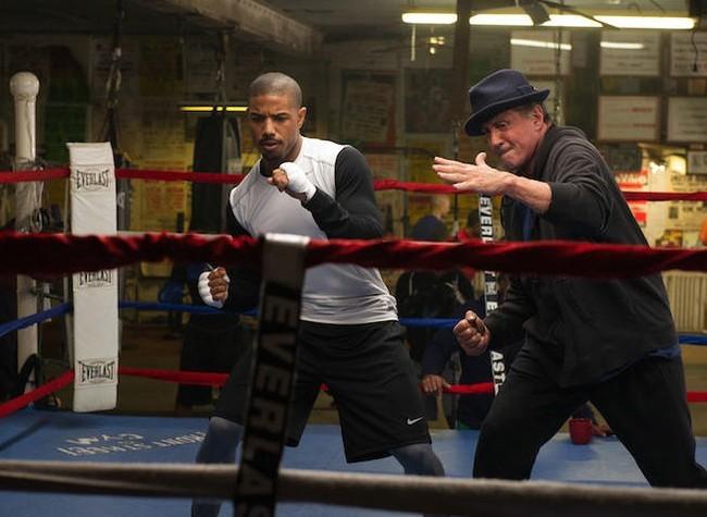Michael B. Jordan y Sylvester Stallone en Creed