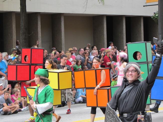 Tetris Costumes Dragoncon Parade 2012