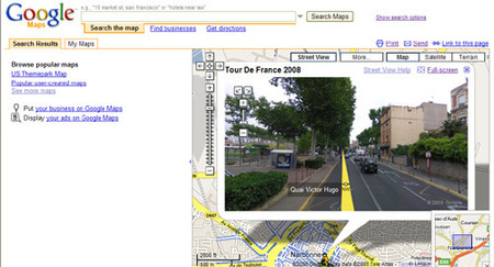 Street View en Europa, Google Maps a pie de calle