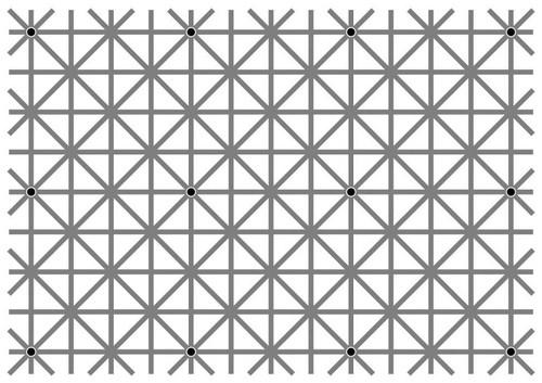 Ver los 12 puntos a la vez en la ilusión visual de moda es mucho más fácil de lo que parece