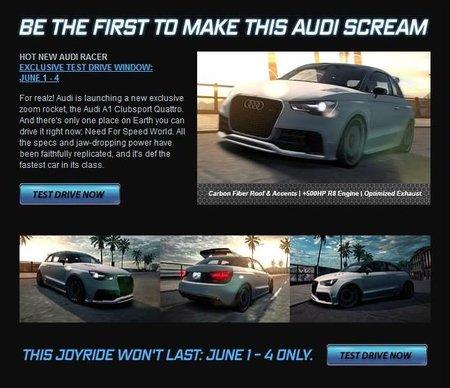 Ya puedes conducir el Audi A1 clubsport quattro (virtualmente)