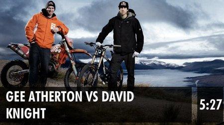 David Knight frente a Gee Atherton en circuito de Downhill