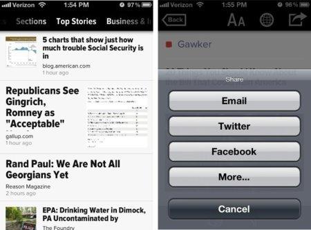 Zite sigue los pasos de Flipboard y lanza una versión para el iPhone