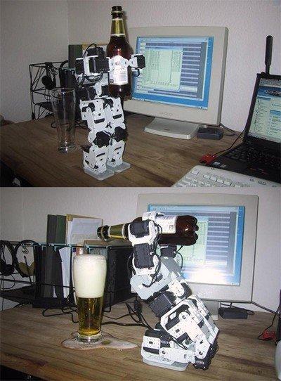 Robot que sirve cervezas
