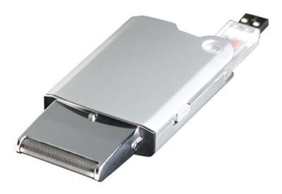 Afeitadora portátil, y por USB