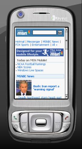 MSN Mobile ya incorpora publicidad