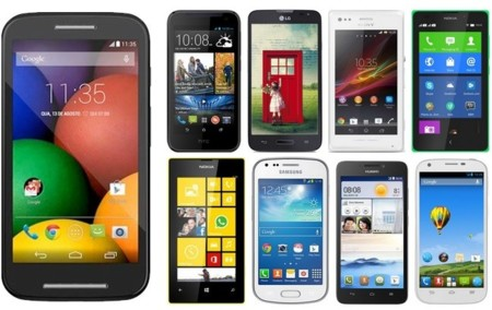 Así queda el Motorola Moto E comparado con sus rivales
