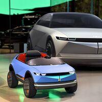 El Mini Hyundai 45 es un diminuto auto eléctrico que podrás regalarle a tu hijo la próxima navidad