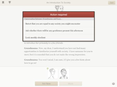 """Versu, el """"elige tu propia aventura"""" para iPad de la mano del creador de Second Life"""