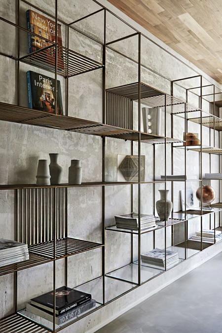 17 ideas de cmo poner estantes de metal en casa