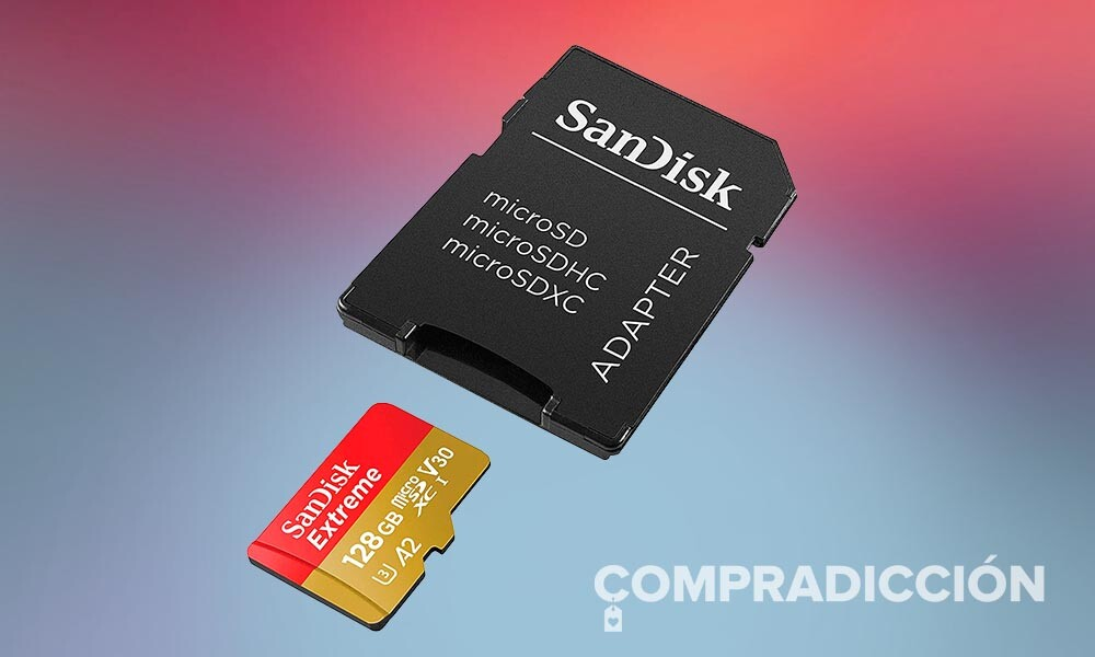 Si necesitas espacio extra en tu smartphone o tableta los 128 GB de esta SanDisk Extreme cuestan muy poco en Amazon. Te los puedes llevar por 18,99 euros