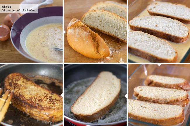 Tostadas francesas - elaboración