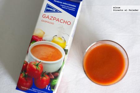 Comparativa gazpachos de marca blanca - hipercor