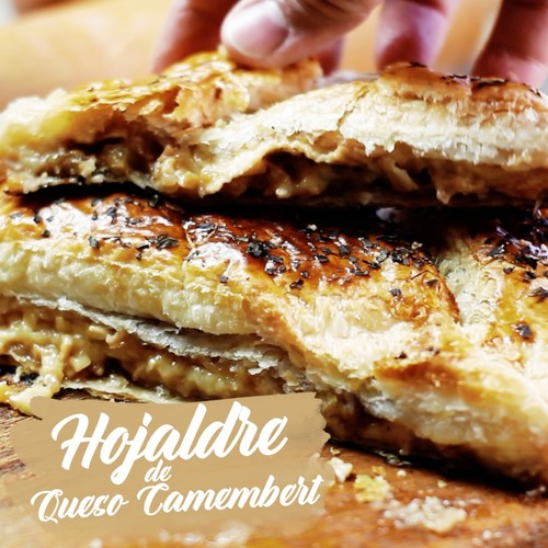 Hojaldre de queso camembert. Receta en video