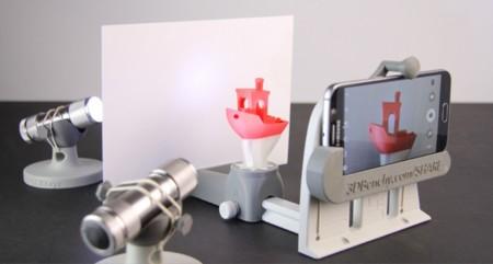 detalle del estudio para móvil que puedes imprimir en 3D