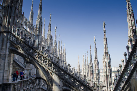 Detalles terraza Duomo Milán