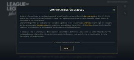 Region Del Juego