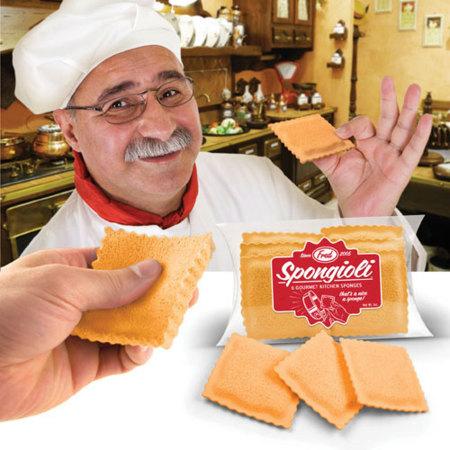 Spongioli, esponjas con forma de ravioli para la cocina