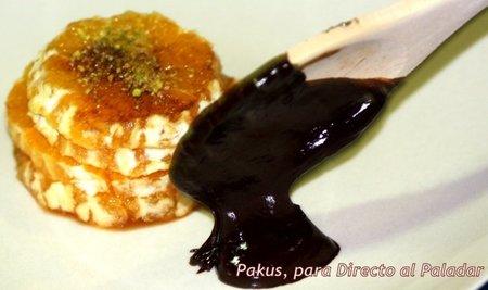 Postres fáciles y rápidos VI: Naranjas con chocolate y pistachos