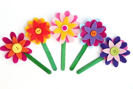 Manualidades Verano Separadores Flores