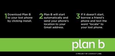 Plan B para Android, recupera tú móvil en caso de pérdida o robo