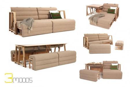 Conocemos de primera mano el mobiliario vers til de unamo for Sillones que se hacen cama