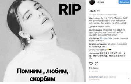 vlada Dzyuba modelo 14 años muere china