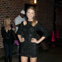 El look de Blake Lively en el show de David Letterman