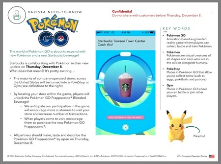 Pokemon Go Starbucks