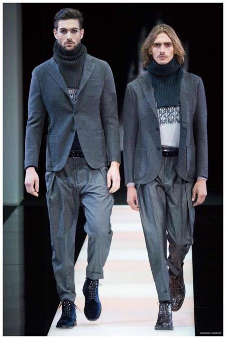 Giorgio Armani Menswear Fall Winter 2015 Collection Milan Fashion Week 010