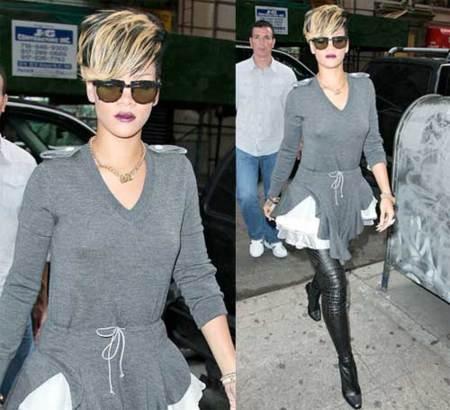 Rihanna ya lleva las botas perforadas de Stella McCartney