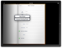 Curiosidad en el SDK del iPad: ¿puede tomar fotografías?
