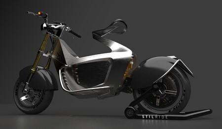 Esta moto eléctrica de Stilride está hecha con paneles de acero que han doblado usando origami industrial