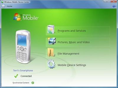 Windows Mobile Device Center 6.1 para Windows Vista