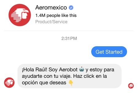 Llega a México el primer chatbot en el mundo que nos vende boletos de Aeroméxico vía Messenger